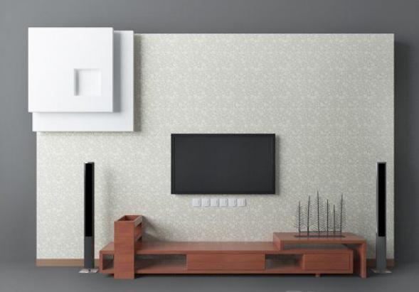 东南亚电视墙3d模型下载