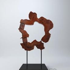 中式木质雕塑3d模型下载