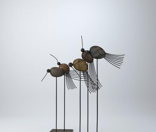 铁艺小鸟摆件3d模型