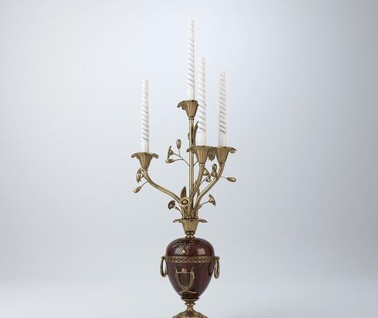 法式花瓶烛台3d模型下载