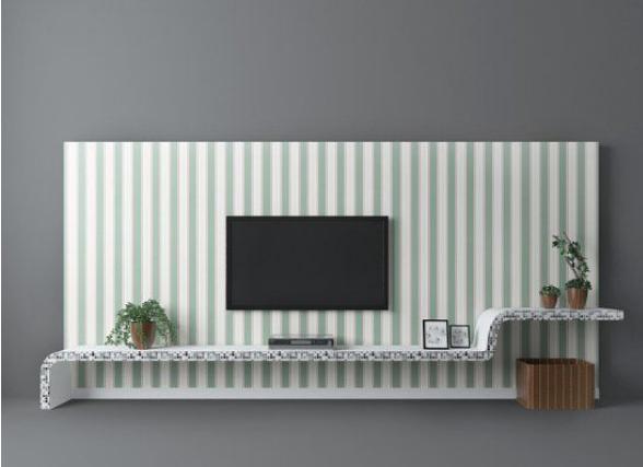 电视墙地中海风格3d模型