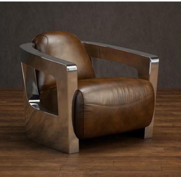 皮质单椅沙发3d模型下载