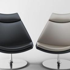 现代圆角椅子3d模型下载