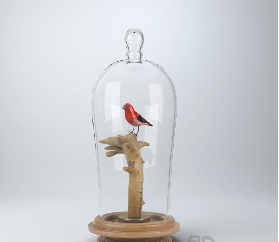 小鸟玻璃摆件