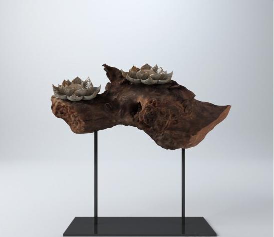 中式雕塑摆件 3d模型下载