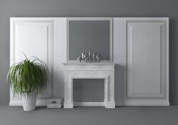 壁炉 3d模型下载