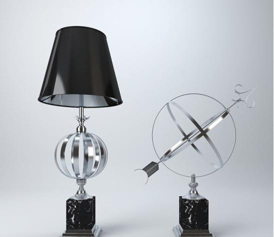 现代风格台灯 3d模型下载
