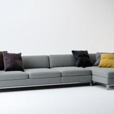 灰色组合沙发三维3d模型下载