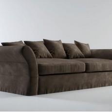 复古风格max沙发3d模型下载