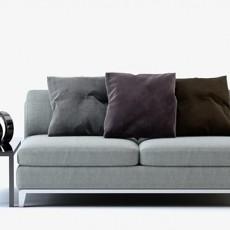 双人沙发三维3d模型下载