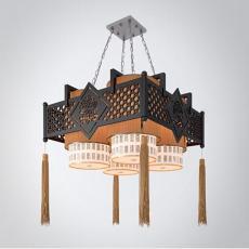 中式三维吊灯3d模型下载