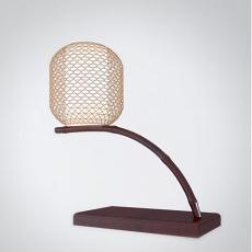 中式灯笼形台灯3d模型下载