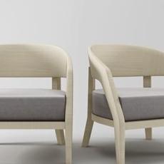休闲区椅子3d模型下载