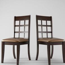 棕色椅子3d模型下载