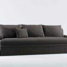 黑色max沙发3d模型下载