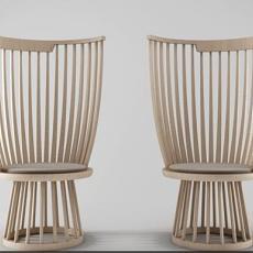 木质单椅 3d模型下载