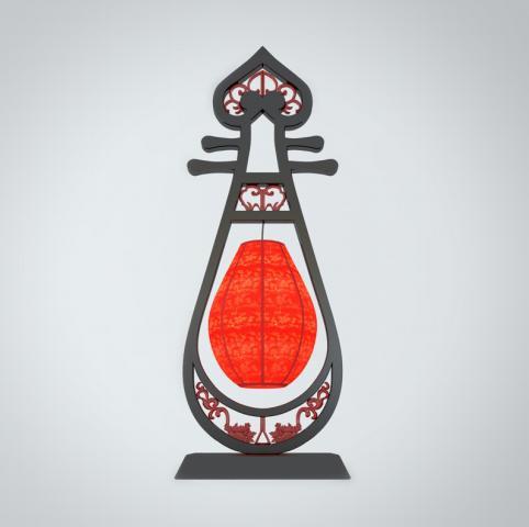 琵琶造型台灯3d模型下载