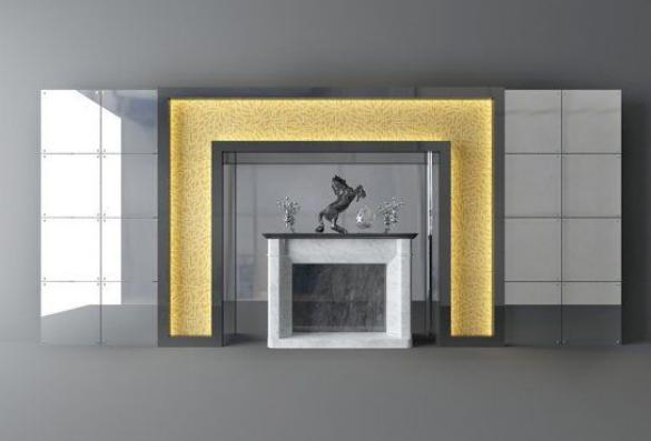 现代壁炉 3d模型下载