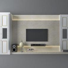 现代风格电视柜3d模型下载