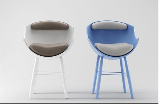 3d蓝色椅子模型下载