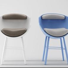 蓝色椅子3d模型下载