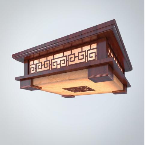 中式吊灯 3d模型下载