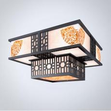 方形三维吊灯3d模型下载