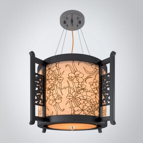 中式花纹图案吊灯3d模型下载