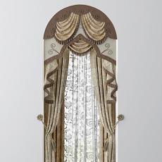欧式风格窗帘图片3d模型下载