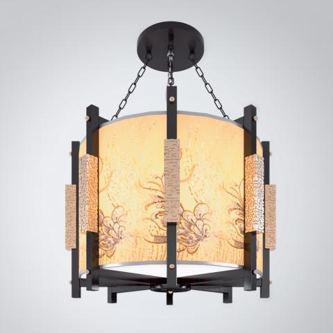 中式圆形八角吊灯3d模型下载