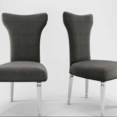灰色单椅 3d模型下载