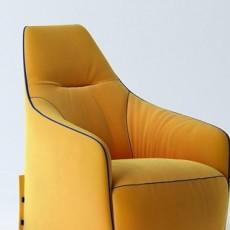 黄色沙发三维3d模型下载