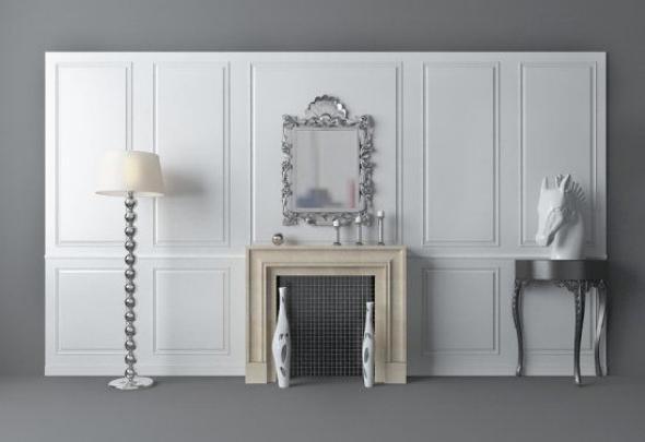 欧式壁炉 3d模型下载