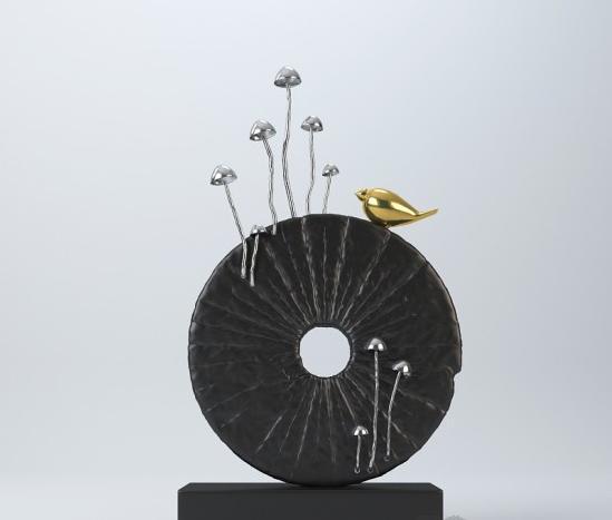 新中式雕塑摆件 3d模型下载