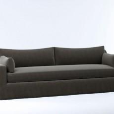灰色max沙发3d模型下载