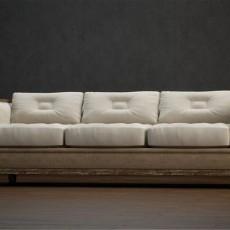 复古风格沙发免费3d模型下载