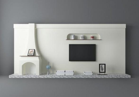 地中海风格3d电视柜模型