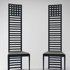 黑色高背椅 3d模型下载