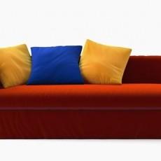 红色沙发三维3d模型下载