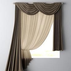 窗帘 3d模型下载