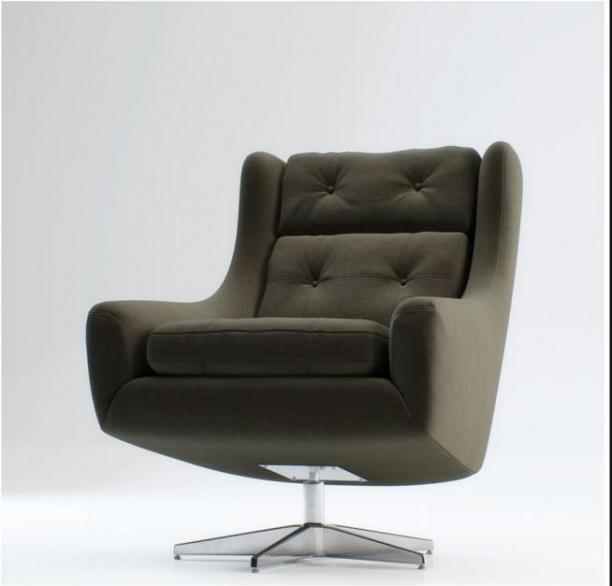 现代单椅沙发3d模型下载