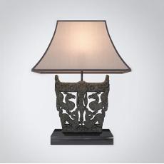 石雕装饰台灯3d模型下载