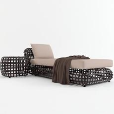 户外 躺椅沙发 3d模型下载