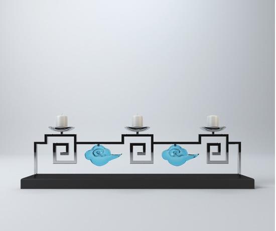 中式风格烛台摆件 3d模型下载