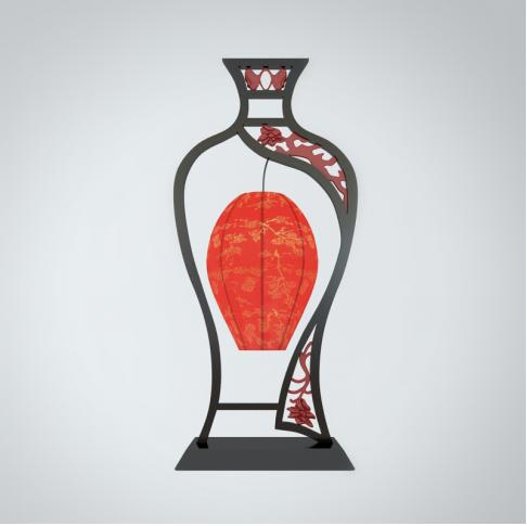 水瓶造型台灯3d模型下载