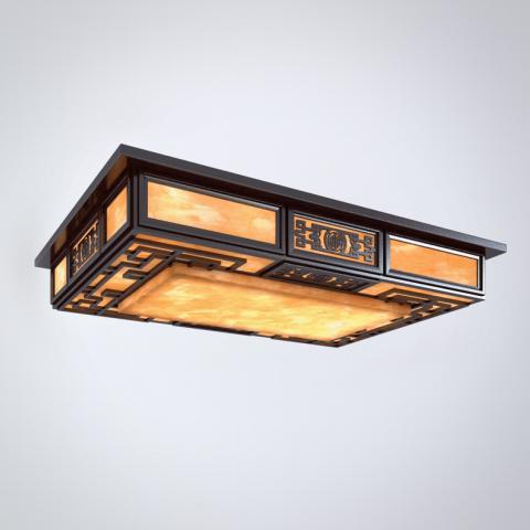 中式吸顶灯3d模型下载