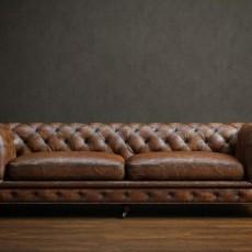 max真皮沙发3d模型下载