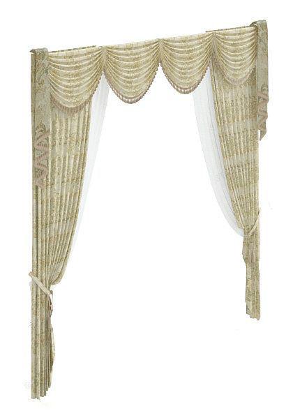古典欧式窗帘 3d模型