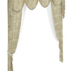 古典欧式窗帘 3d模型下载