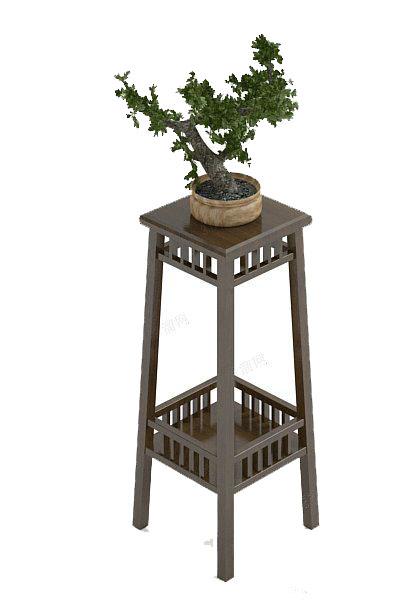 小型盆栽3d模型下载